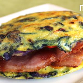 No-bread Bacon and Egg Sandwich