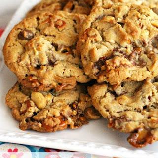 Candy Bar Pretzel Cookies.