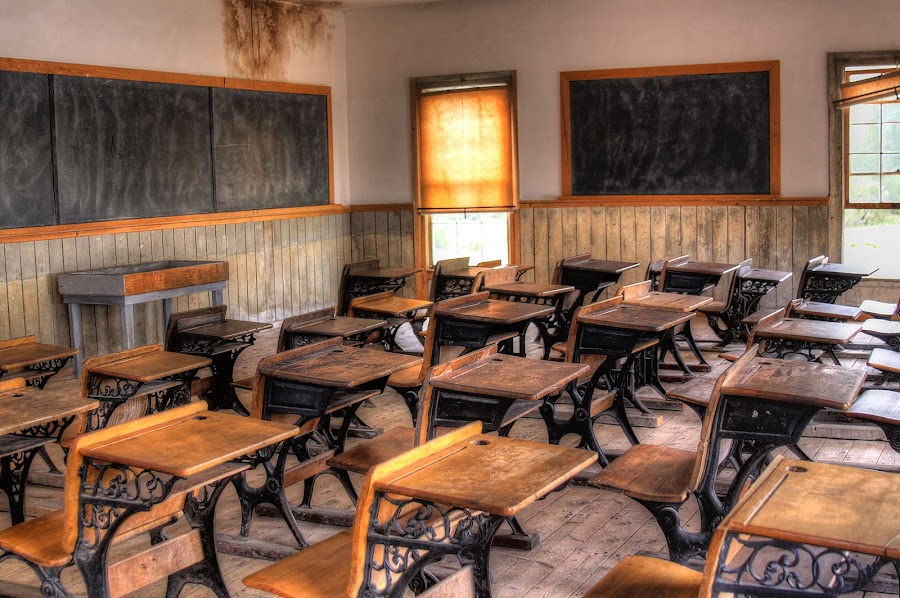The Class Room by Tracy Lynn Hart - Buildings & Architecture Other Interior ( schoolhouse, hdr, bannack, ghosts, ghost town, travel, haunted, photography, history, school, montana, historical, place, teacher, travel photography )