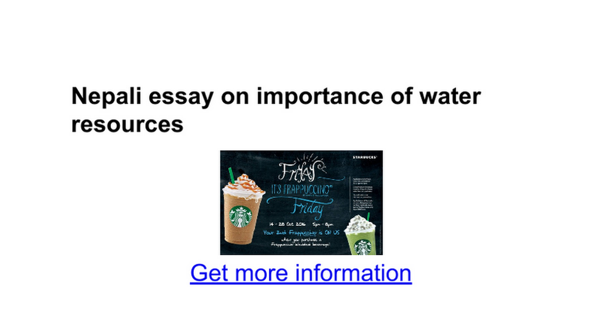 i essay on importance of water resources google docs