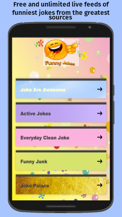 Funny Jokes Feeds (Free App)- screenshot