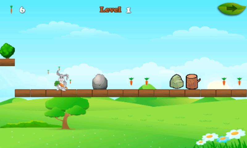 android Rabbit And Carrots Run Game Screenshot 2
