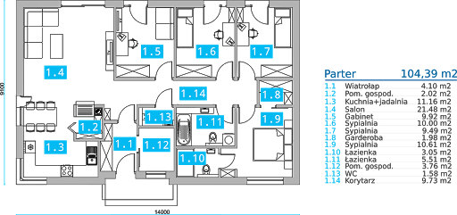 Energodom2 (oferta z budową) - Rzut parteru