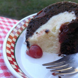 Chocolate Cherry Cheesecake Bundt Cake