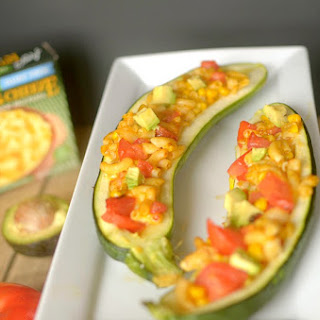 Southwest Mac n' Cheese Stuffed Zucchini {Vegan + Gluten-Free!}.