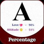 Name Percentage Count : Love, Attitude Percentage icon