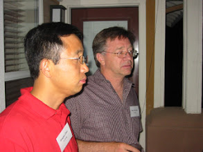 Photo: Professors Honghkai Zhao and Mike McCarthy