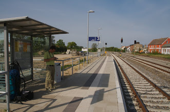 Photo: Tantow - Germany - Waiting for a train to Frankfurt