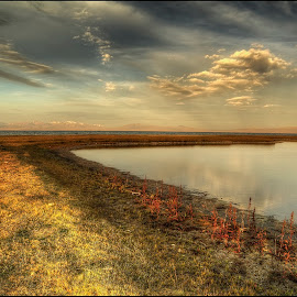 lake Son-Kul by Petr Klingr - Landscapes Sunsets & Sunrises ( sunrise, hdri, waterscape, hdr, clouds, lake, water )