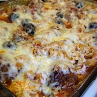 Meatball & Pasta Bake