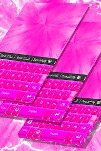 Barva klávesnice Hot Pink téma - náhled