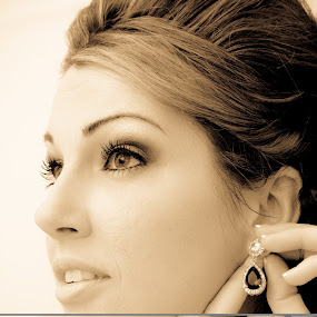 Beauty by Jill French - Wedding Bride ( hands, wedding, lips, hair, earring, eyes, , Wedding, Weddings, Marriage )