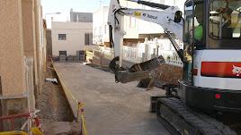 Estado de las obras en marcha en una de la calles.