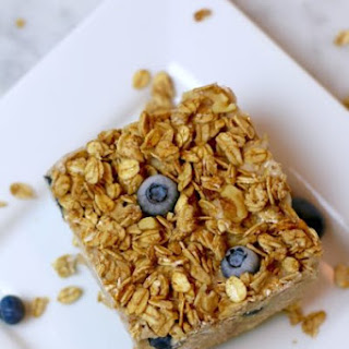 Blueberry Nice Cream Crunch Bars