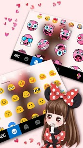 Lovely Bowknot Girl Keyboard Theme 1.0 Mod + Data for Android 3