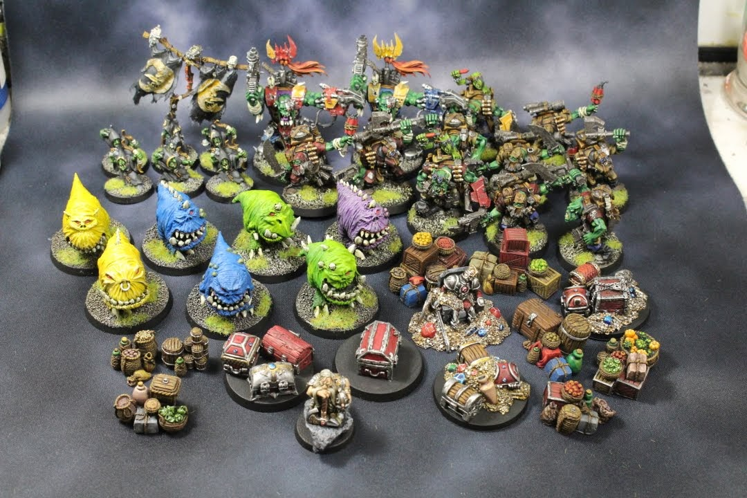 Warbosses, Kommandos, Squigs, Treasure