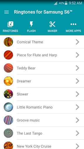 無料音乐Appの삼성 S6™ 벨소리 記事Game