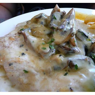 Chicken With A Mushroom Sauce