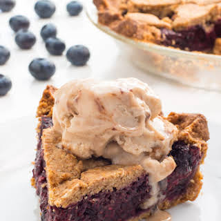 Vegan Berry Pie with Sugar Cookie Crust.