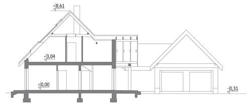 Bocianie gniazdo - wariant I - M125a - Przekrój