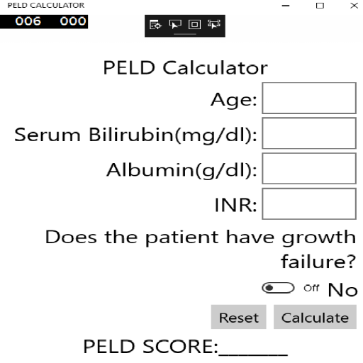 PELD Calculator- screenshot