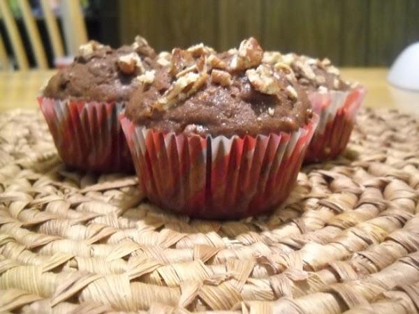 Chocolate- Chocolate Chip Banana Muffins Recipe