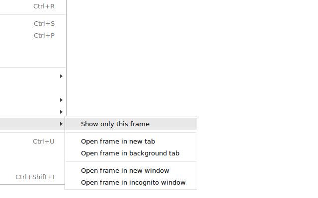 """""""This Frame"""" Context Menu"""