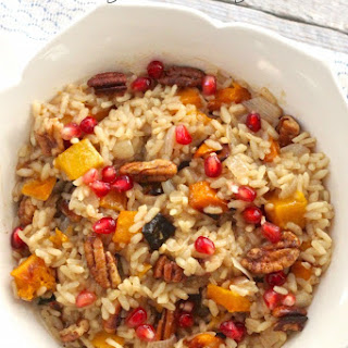 Roasted Butternut Squash Risotto with Candied Pecans