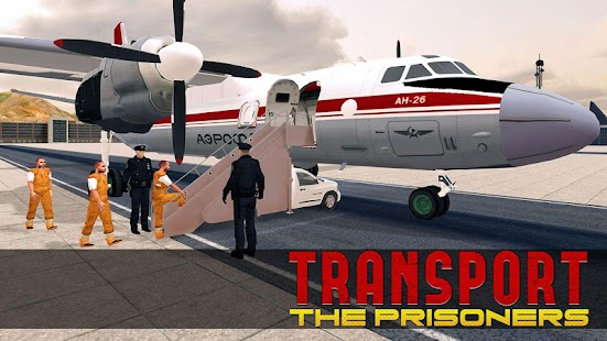 Jail Criminals Transport Plane- screenshot thumbnail