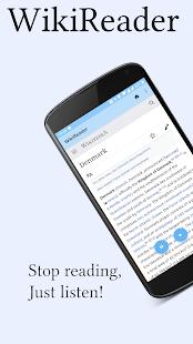 WikiReader - Read articles aloud!