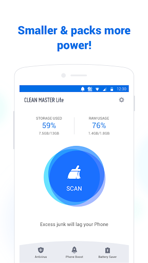 Clean Master Lite - For Low-End Phone 2.1.4 screenshots 1