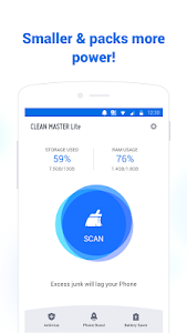 Clean Master Lite - For Low-End Phones 3.1.1 (30110106) (Armeabi) (AdFree)