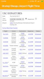 Urumqi Diwopu Airport Flight Time - náhled