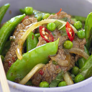 Beef Stir-Fry with Mixed Peas.