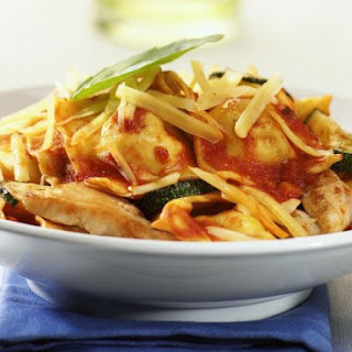 Stuffed Pasta with Chicken and Courgette.