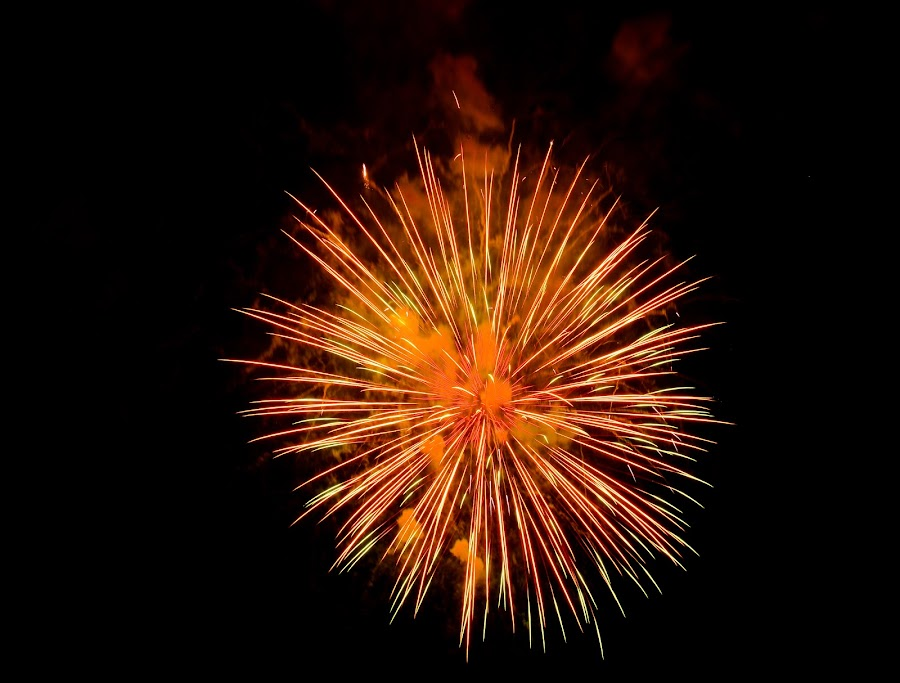 A Moment in Time by Jim Schlett - Abstract Fire & Fireworks ( firepower, exploding, bright, time, fireworks, atom, sparkling,  )