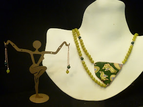 Photo: <BEREHYNYA> {Great Goddess Protectress} unique one-of-a-kind statement jewellery by Luba Bilash ART & ADORNMENT  LOVE EVERLASTING - ВІЧНА ЛЮБОВ - copper enamel pendant, Korean jade, moss agate, rose gold vermeil SOLD/ПРОДАНИЙ