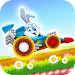 Happy Easter Bunny Racing Icon