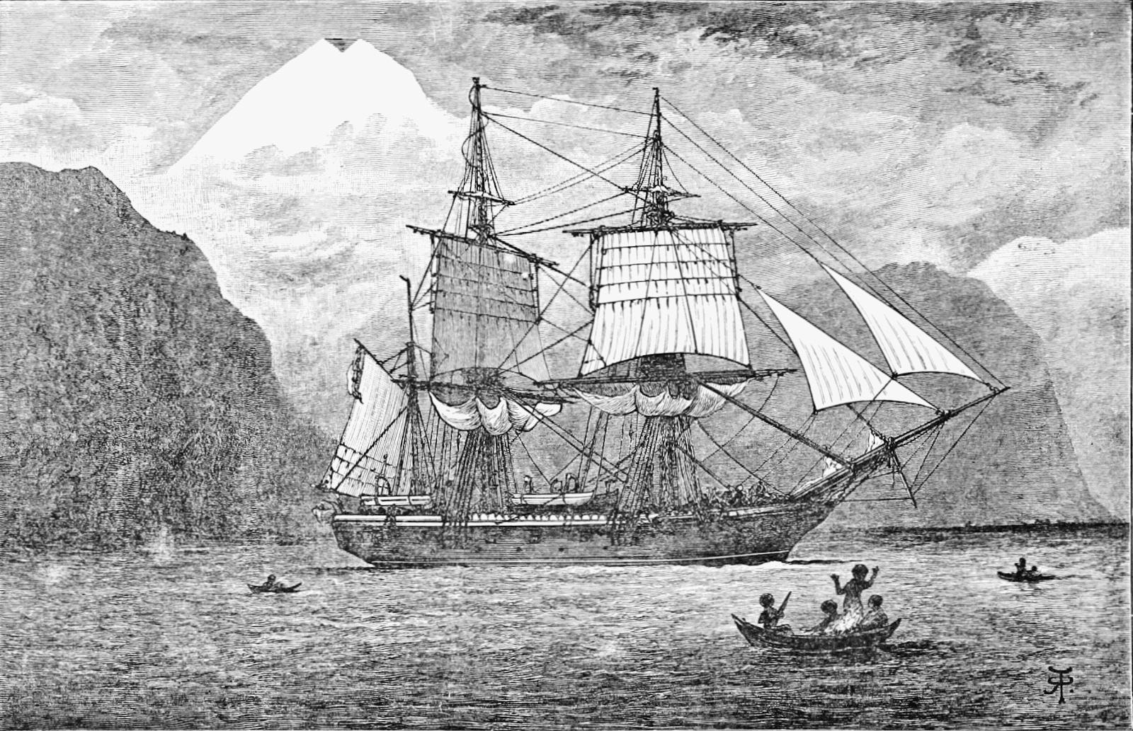 HMS Beagle en las costas de Ushuaia