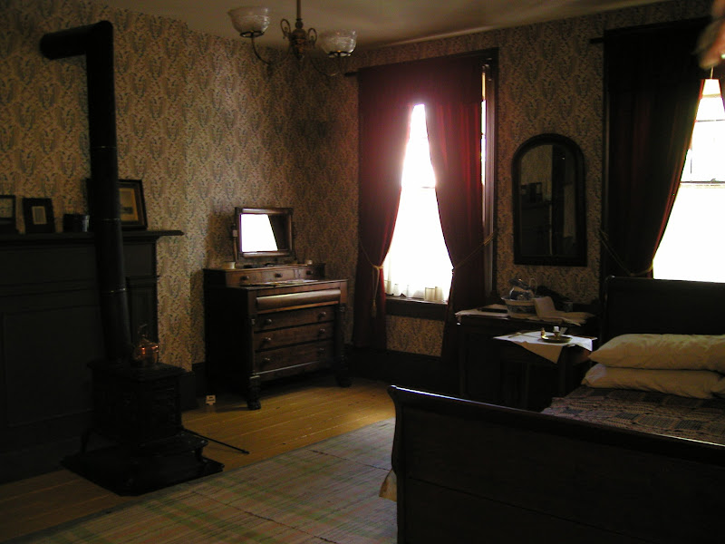 Photo: Bedroom at Mackenzie House - Home of William Lyon Mackenzie, former Toronto mayor, one of the leaders of the 1837 rebellion and the push for Reform against the Family Compact. And publisher of the Colonial Advocate, the Reform newspaper.
