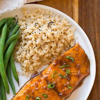 Maple-Soy Glazed Salmon.