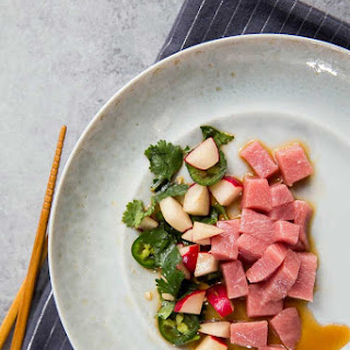 Tuna Sashimi And Radish Salad