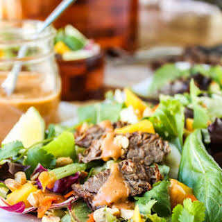 CrockPot Thai Steak Salad.