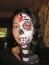 Photo: Sugar Skull Face Painting by Maria, Anaheim, Ca 888-750-7024 http://www.memorableevententertainment.com/FacePainting/MariaChino,Ca.aspx