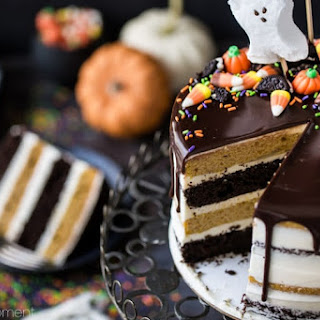Pumpkin Chocolate Halloween Cake.
