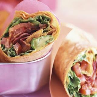 Bacon and Lettuce Tortilla Wraps.