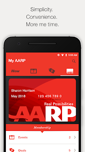 AARP Now App: News, Events & Membership Benefits se skermkiekie-kleinkiekie