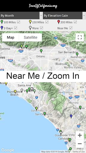 TourOfCalifornia.org: California Bicycle Rides screenshot 2