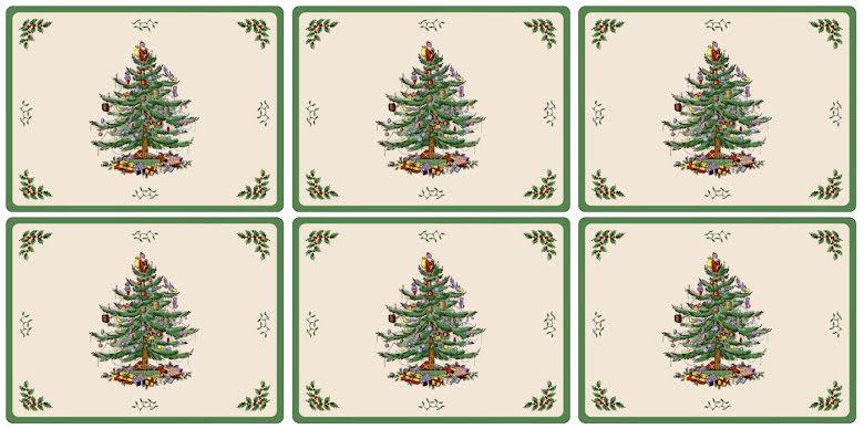 Christmas Tree Bordsunderlägg Small 6-pack