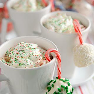 Peppermint Rice Krispie Snow Ball Treats